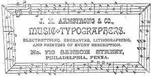 Advertisement in The Musical Million.